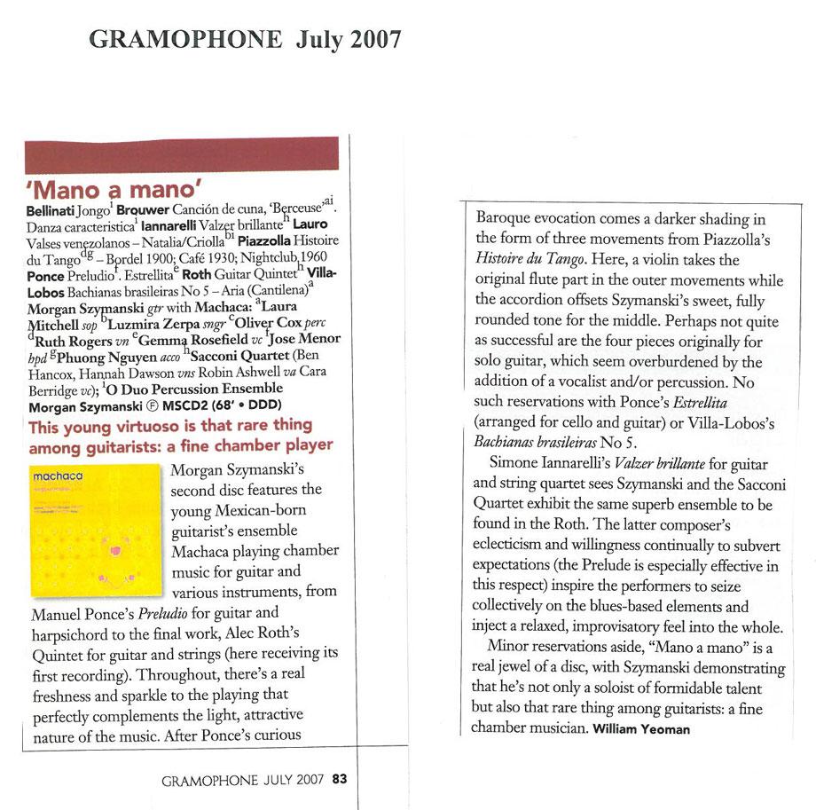 CD Review, 2007, Gramophone