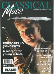 Cover, 1993, Classical Music Magazine