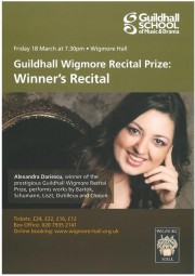 GSMD Recital Prize, 2011
