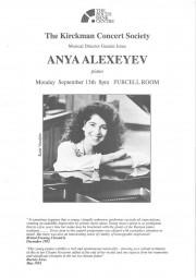 Programme, 1994, Kirckman Concert Society