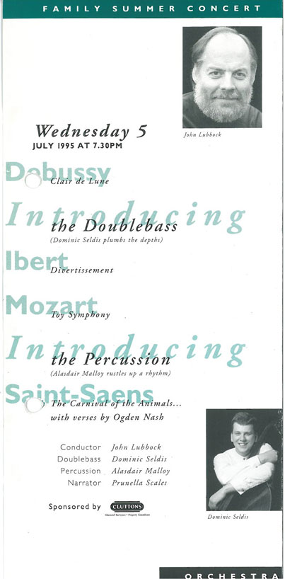 Programme, 1995, Orchestra at St John's Smith Square