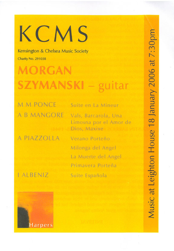 Programme, 2006, Kensington and Chelsea Music Society