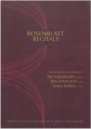 Programme, 2011, Rosenblatt Recitals