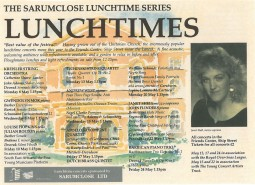 Programme, Sarumclose Lunchtime Series