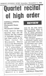 Review, 1992, Dorset Evening Echo