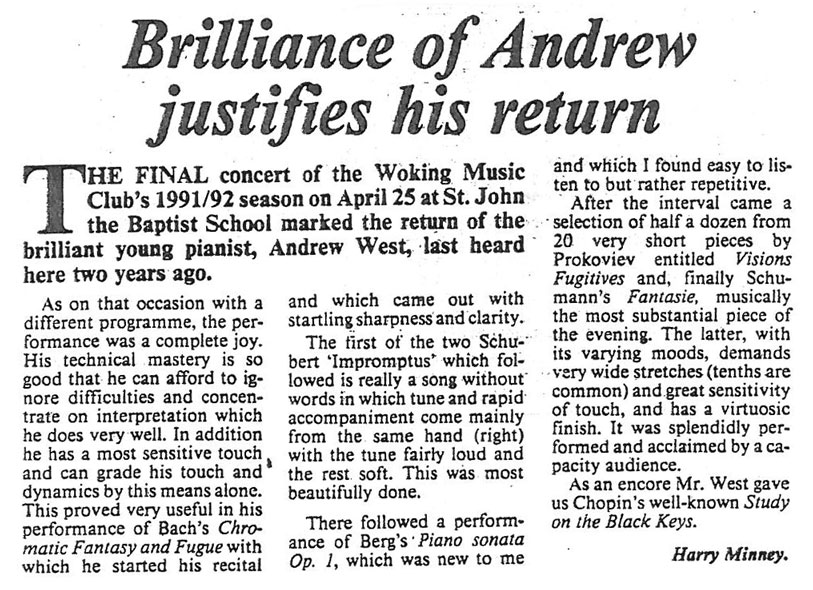 Review, 1992, News and Mail