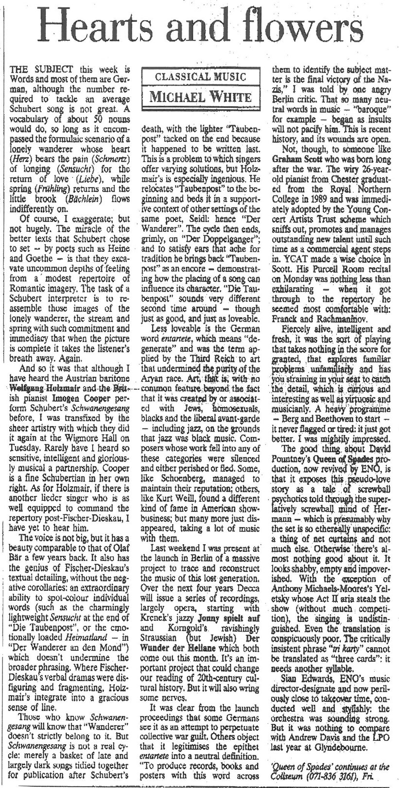Review, 1993, The Independent