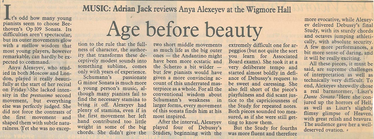 Review, 1994, The Independent