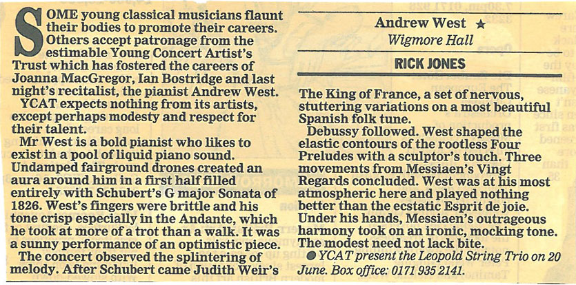 Review, 1997, Evening Standard