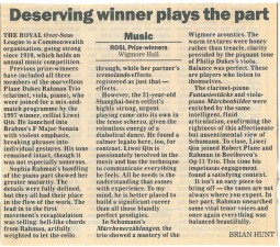 Review, 1998, The Daily Telegraph