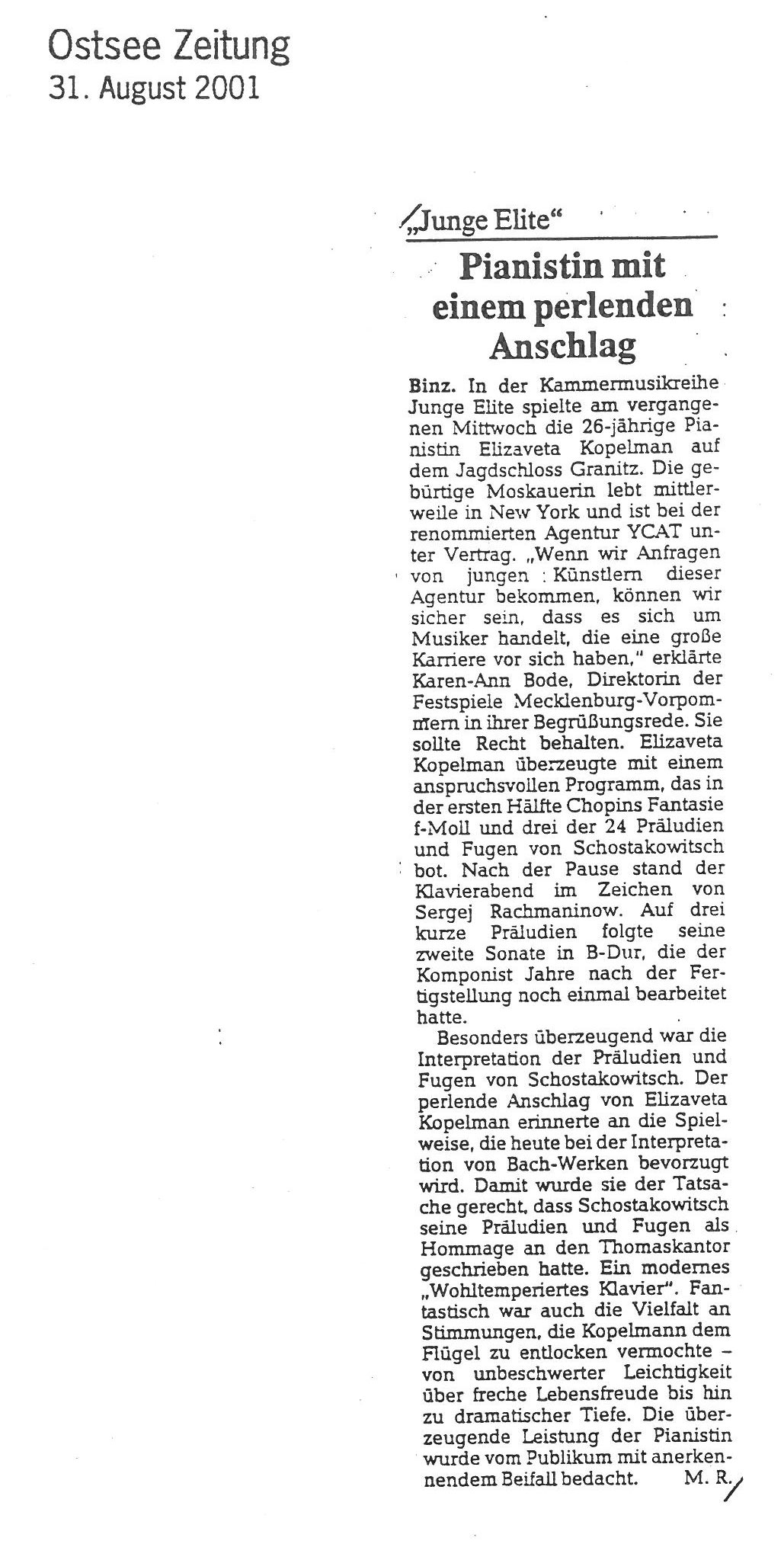 Review,-2001,-Ostsee-Zeitung