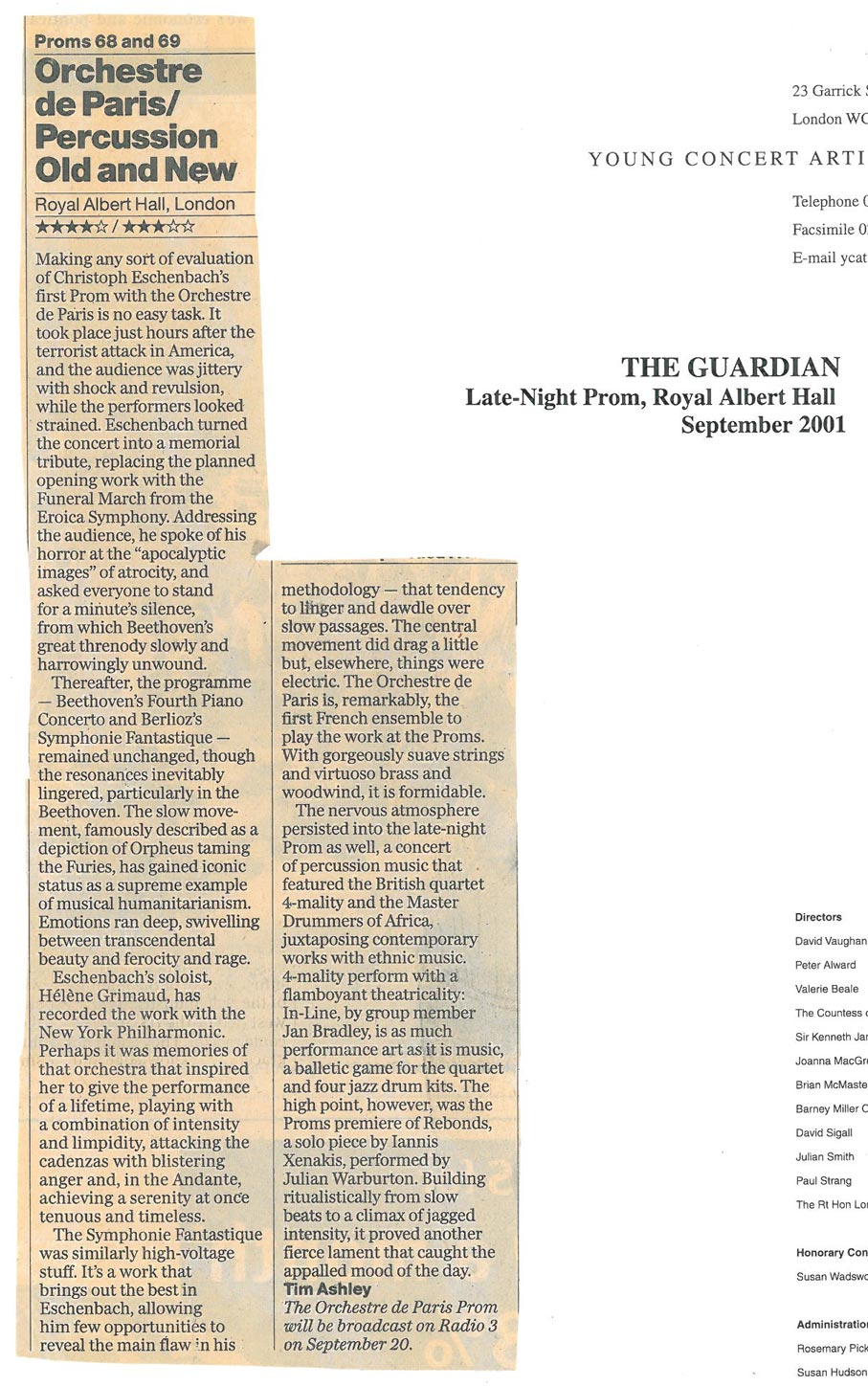 Review, 2001, The Guardian