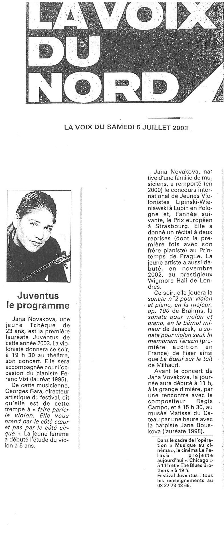 Review,-2003,-La-Voix-du-Nord