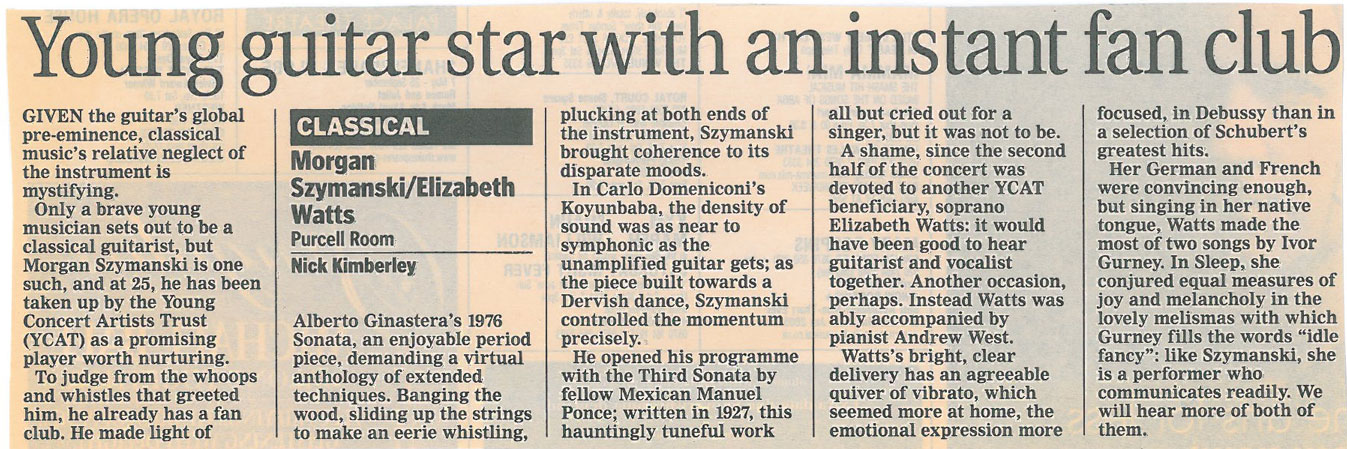 Review, 2004, Purcell Room