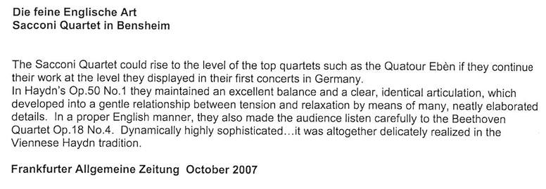 Review, 2007, Frankfurter Allgemeine Zeitung
