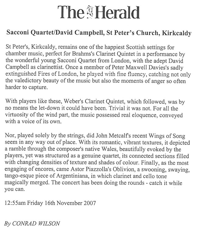 Review, 2007, The Herald