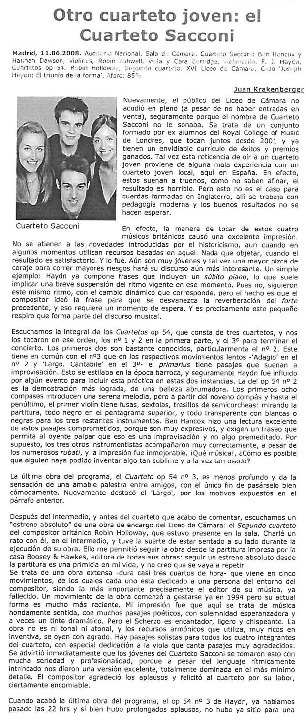 Review, 2008, Mundo Clasico