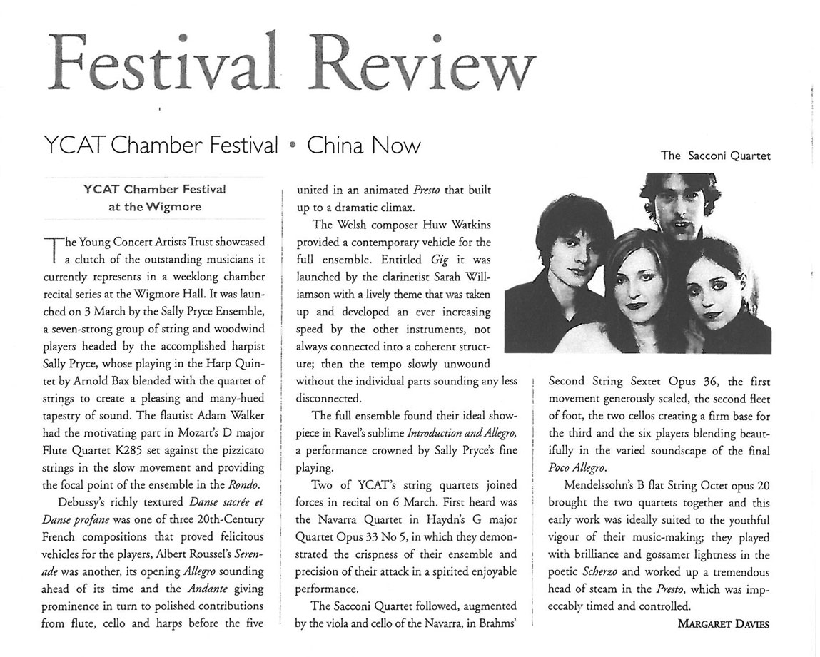 Review, 2008, Musical Opinion