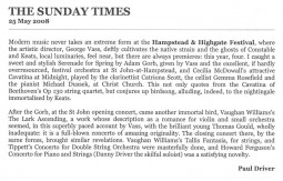 Review, 2008, The Sunday Times