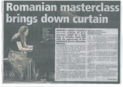 Review, Grimsby Concert Society