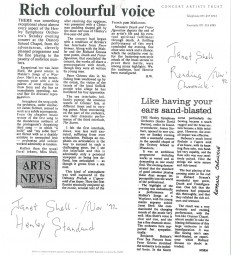 Reviews, 1992, Henley Standard and Reading Chronicle