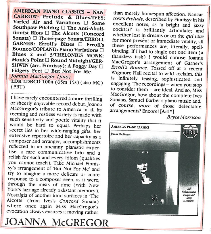 CD Review, 1989, Hi-Fi News and Record Review