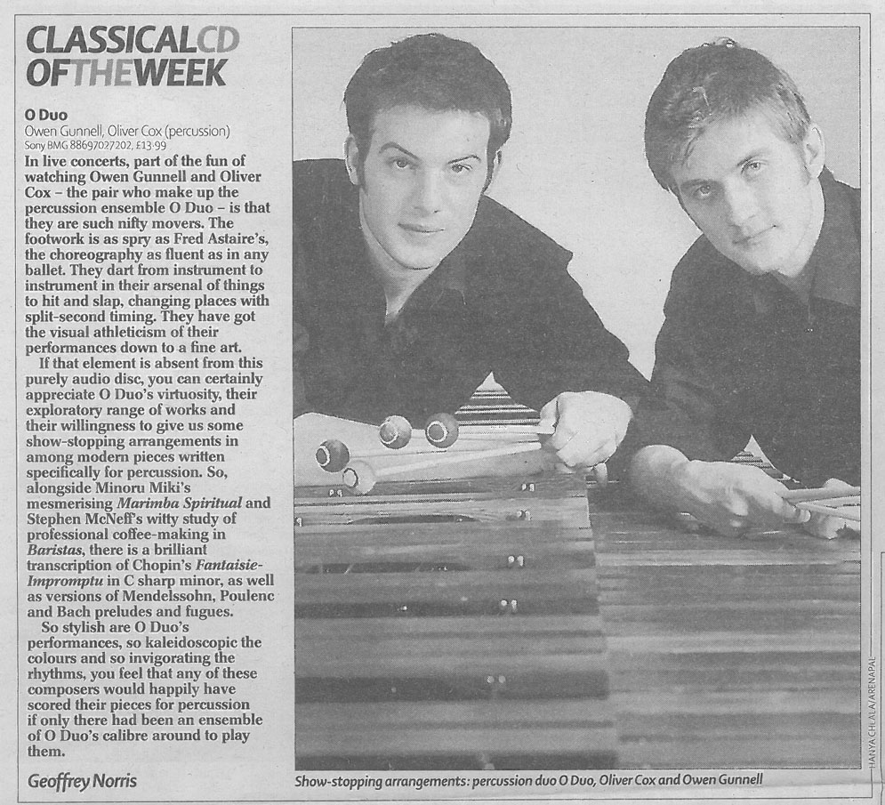 CD Review, 2007, The Telegraph