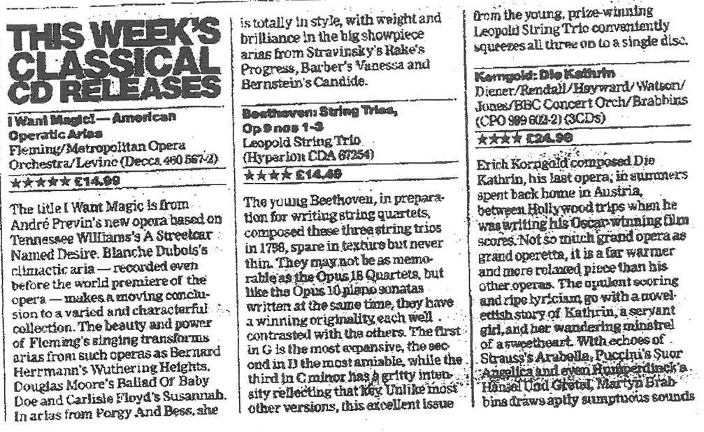 CD review, 1998, The Guardian