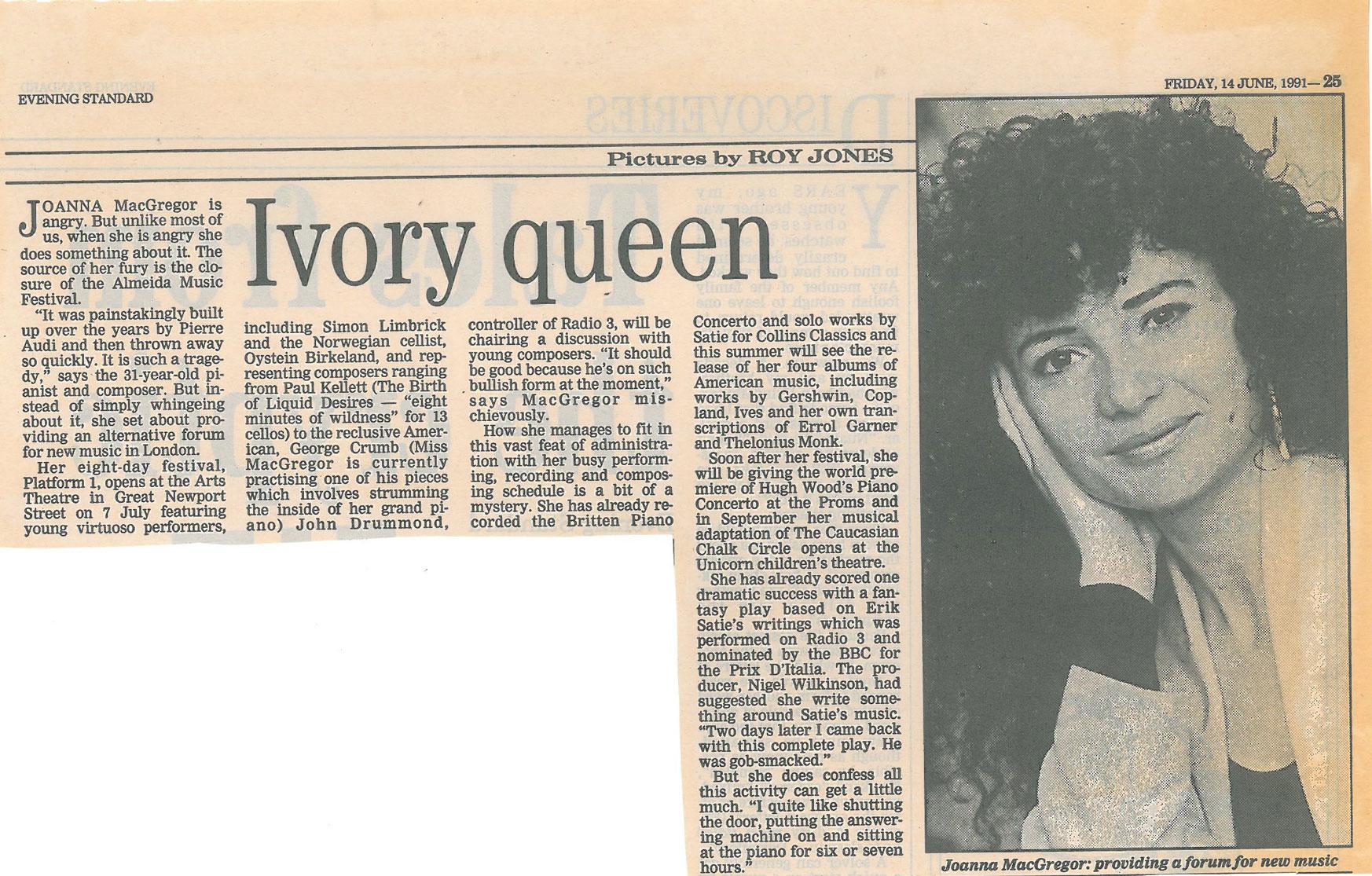 Feature, 1991, Evening Standard