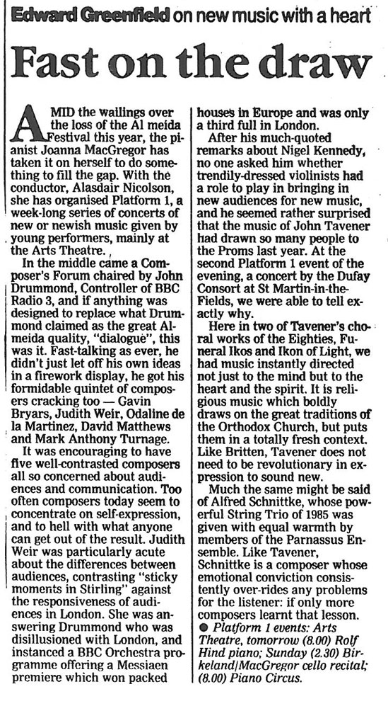 Feature, 1991, The Guardian