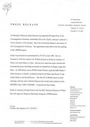 Press Release, 1995, YCAT