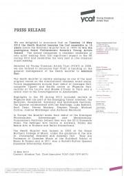 Press Release, 2013, YCAT