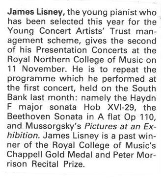 Preview, 1988, Musical Opinion