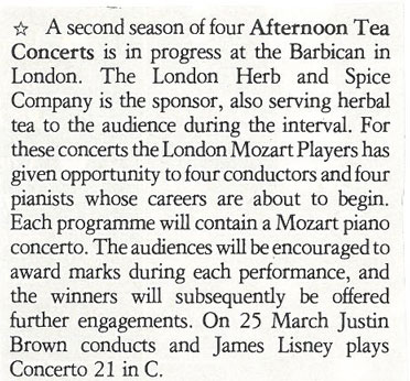 Preview, 1990, Music and Musicians