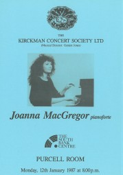 Programme, 1987, Purcell Room