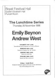Programme, 1998, Royal Festival Hall