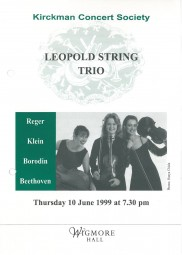 Programme, 1999, Wigmore Hall