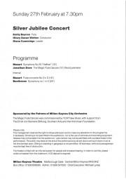 Programme, 2000, Milton Keynes City Orchestra