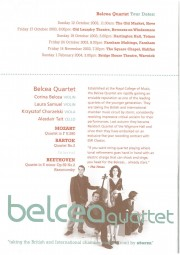 Programme, 2003, Music in the Round