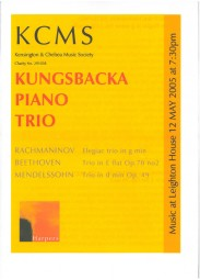 Programme, 2005, Kensington and Chelsea Music Society