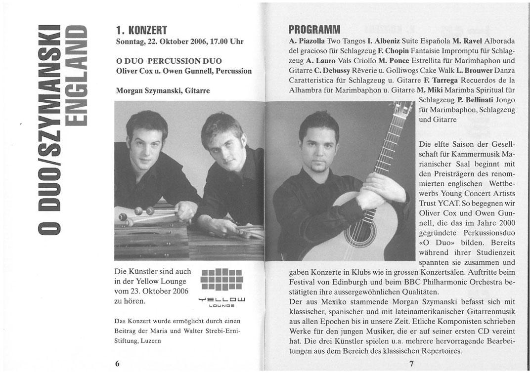 Programme, 2006, Kammermusik-Zyklus