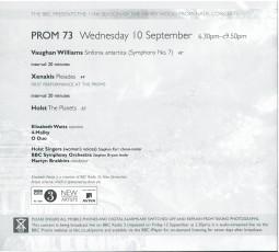 Programme, 2008, BBC Proms