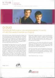 Programme, 2008, Mittelrhein Musik Momente