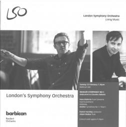 Programme, 2014, Watkins Flute Concerto
