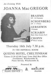 Programme, Queen's Hotel, Cheltenham