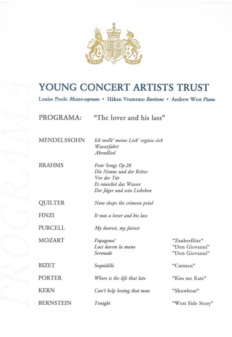 Programme, YCAT