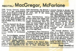 Review, 1986, The Daily Telegraph