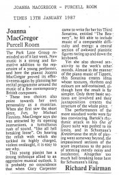 Review, 1987, The Times