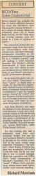 Review, 1988, Queen Elizabeth Hall