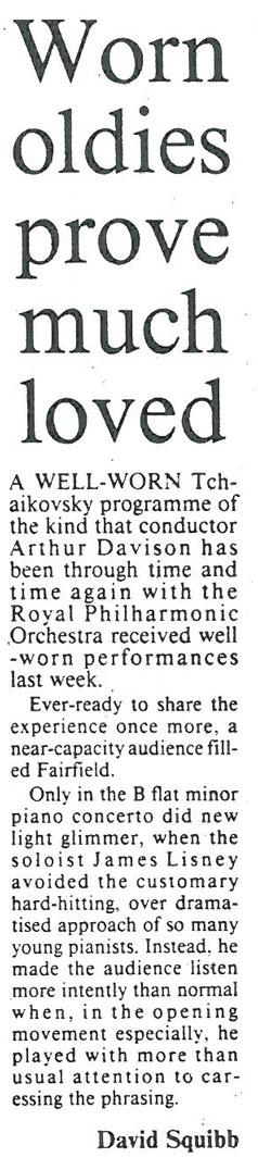 Review, 1990, Croydon Fairfield Halls